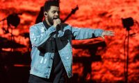 (FILES) In this file photo taken on October 19, 2017, singer The Weeknd performs on his Starboy: Legend of the Fall 2017 World Tour at the AT&T Center in San Antonio, Texas. - Canadian R&B singer The Weeknd will perform at this NFL season's Super Bowl halftime show, the league announced on November 11, 2020, a coveted slot likely to face restrictions due to the ongoing pandemic. (Photo by SUZANNE CORDEIRO / AFP)