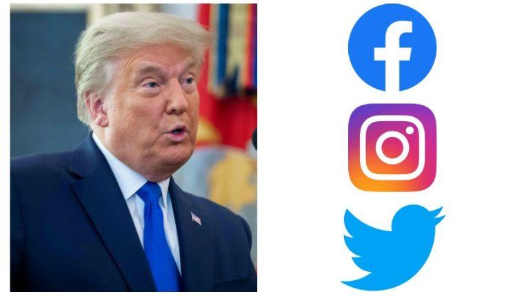 Facebook, Instagram y Twitter bloquean la cuenta de Trump por estas razones  – Prensa Libre