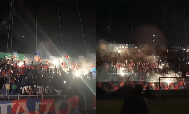 """Con cánticos y pirotecnia aficionados dan el """"banderazo de aliento"""" a Xelajú MC previo a recibir a Guastatoya"""