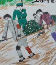 La exprisionera Kim Hye-sook dibujó estas ilustraciones para representar su experiencia en una mina de carbón de Corea del Norte.