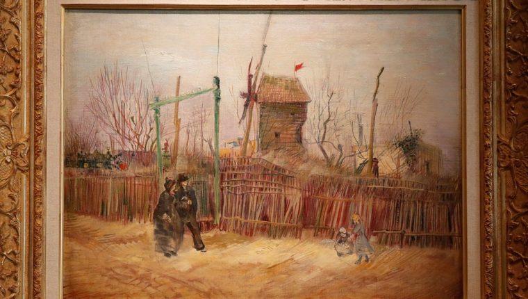 El famoso distrito de Montmartre de París todavía era semirrural cuando Van Gogh lo pintó. (REUTERS)