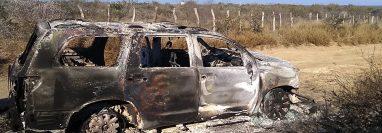 Los cuerpos carbonizados de 19 personas fueron hallados el 23 de enero en Tamaulipas, México. (Foto Prensa Libre: EFE)