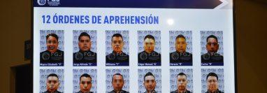 Fotografía mostrada por la Fiscalía del Estado de Tamaulipas de 12 presuntos implicados en el homicidio de 19 migrantes. (Foto: Hemeroteca PL)