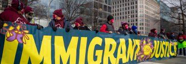 Manifestación en Washington a favor de las comunidades migrantes el 3 de febrero de 2021. (Foto: Hemeroteca PL)