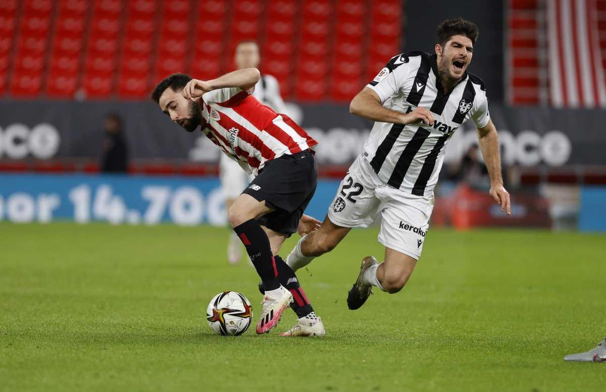 Copa del Rey: Athletic de Bilbao y Levante empatan 1-1 en ida de semifinales