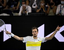 Daniil Medvedev asegura que él no es favorito en la final del Abierto de Australia. Foto Prensa Libre: EFE.