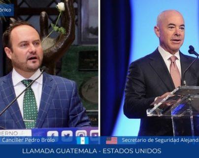 """""""Es un objetivo estratégico"""": canciller le reitera a EE. UU. la importancia de brindar el TPS a los guatemaltecos"""