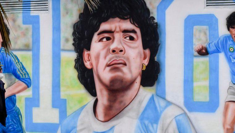 Mural dedicado a Diego Maradona en Nápoles, Italia. (Foto: Hemeroteca PL)
