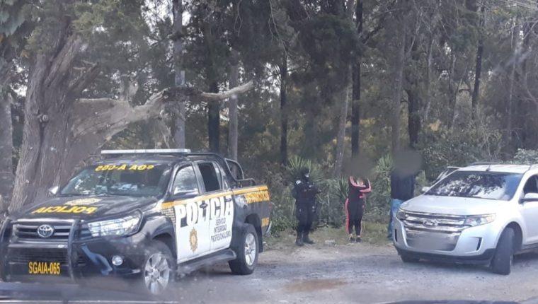 Detención de Virginia Bourdet en San José Pinula. Foto: PNC