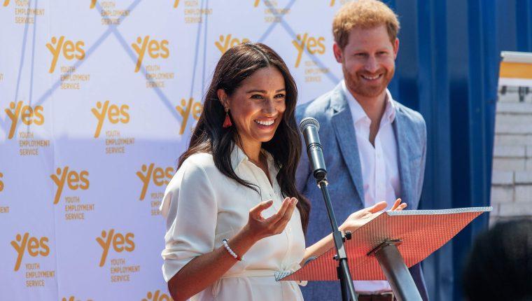 La pareja anunció este 14 de febrero el reciente embarazo.  (Foto Prensa Libre:  AFP)