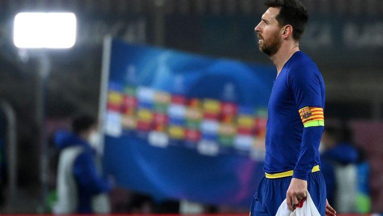 El futuro de Lionel Messi puede ser finalmente Inglaterra con el Manchester City. Foto Prensa Libre: AFP.