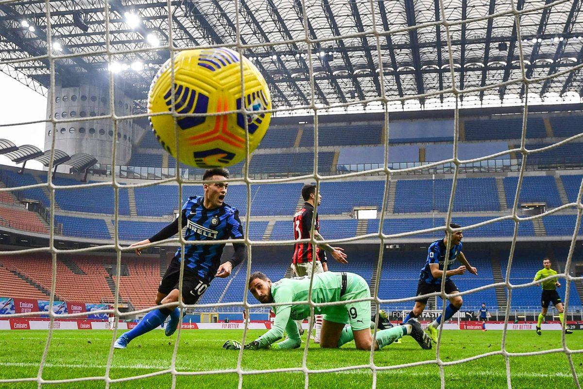 Inter gana el derbi al Milan con doblete de Lautaro Martínez