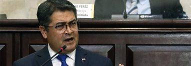 Juan Orlando Hernández, presidente Honduras. (Foto Prensa Libre: AFP)