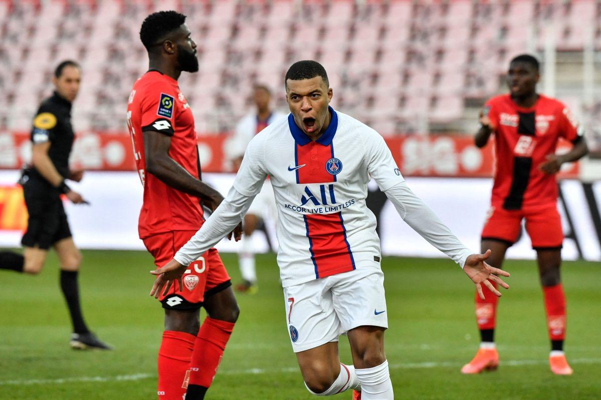 Mbappé marca doblete en el triunfo del París SG contra el Dijon