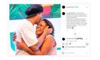 Este fue el mensaje que publicó Ronaldinho en su cuenta de Instagram. Foto Prensa Libre: Captura de pantalla.