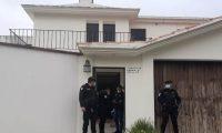 Residencia de la zona 16 allanada por la Feci. (Foto: MP)