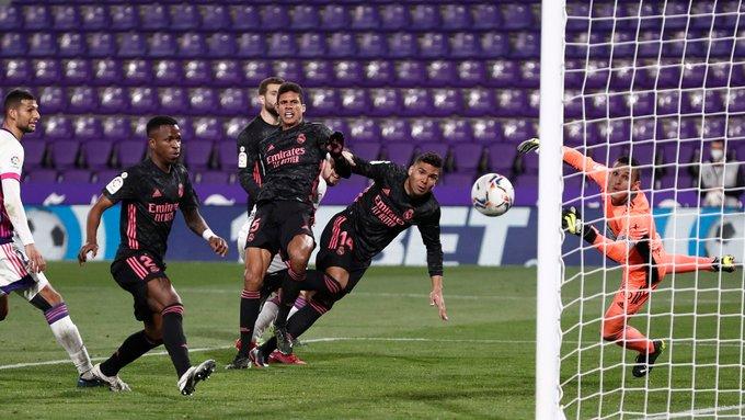 Casemiro marcó la diferencia en la victoria del Real Madrid en su visita contra el Real Valladolid. (Foto Real Madrid).