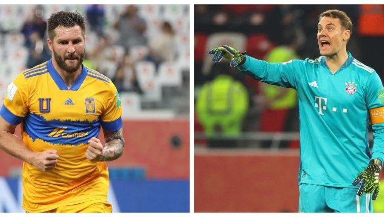 Gignac y Neuer se vuelve a enfrentar en una competición. Esta vez con sus clubes. Foto Prensa Libre: AFP.