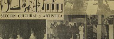 Los eventos artísticos hace 50 años tenían variedad de propuestas. (Foto Prensa Libre: Hemeroteca)