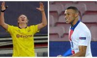 Haaland y Mbappé se robaron el show en la jornada de la Champions League. (Foto Prensa Libre: AFP y EFE)