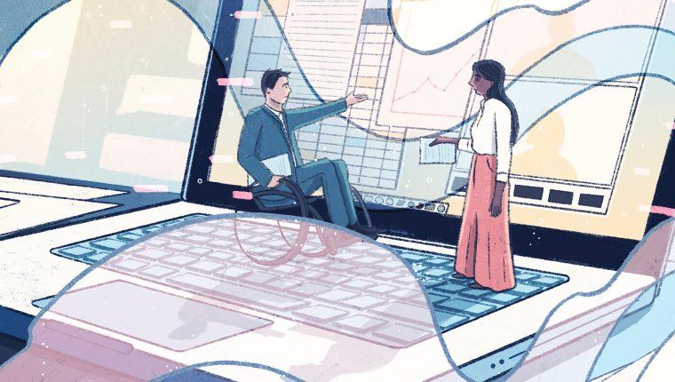 """""""Gestionar hacia arriba"""" mientras trabajas desde casa puede promover relaciones positivas con tus superiores, y darle un impulso a tu carrera. (Kailey Whitman/The New York Times)."""