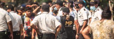 El 15 de enero pasado el Grupo Duwest y empresas afiliadas denunciaron ocupación ilegal de una finca  de su propiedad en San Marcos, foto tomada en enero del 2021. (Foto, Prensa Libre: Cortesía).