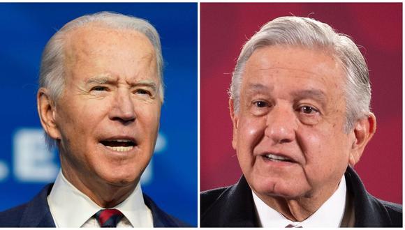 Joe Biden y Andrés Manuel López Obrador hablarán sobre cooperación para el desarrollo de Centroamérica y el sur de México, la migración y la economía. (Foto Prensa Libre: AFP y EFE)