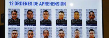 Doce presuntos implicados en el homicidio de 19 personas en México. (Foto Prensa Libre: EFE)