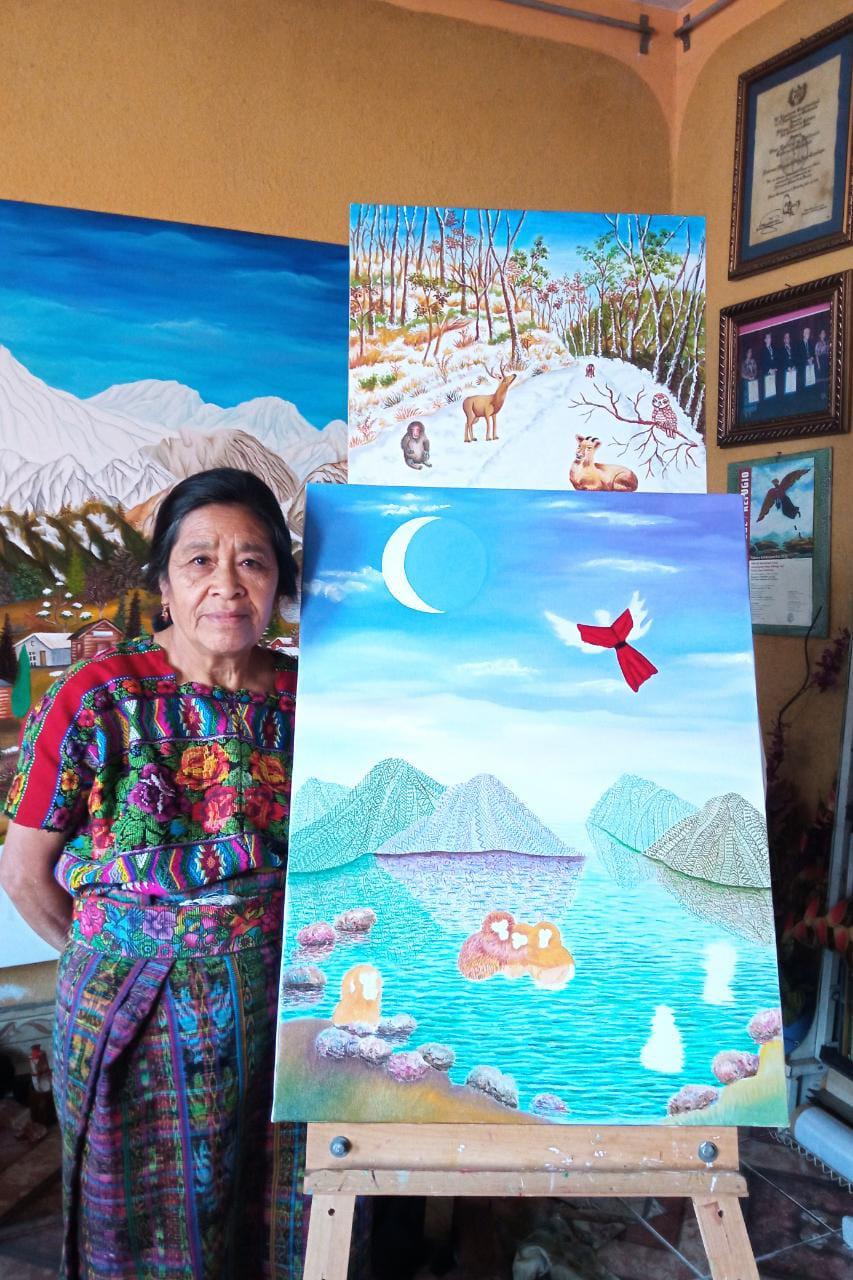 Es la primera vez que Paula Nicho interpreta paisajes que no son guatemaltecos.