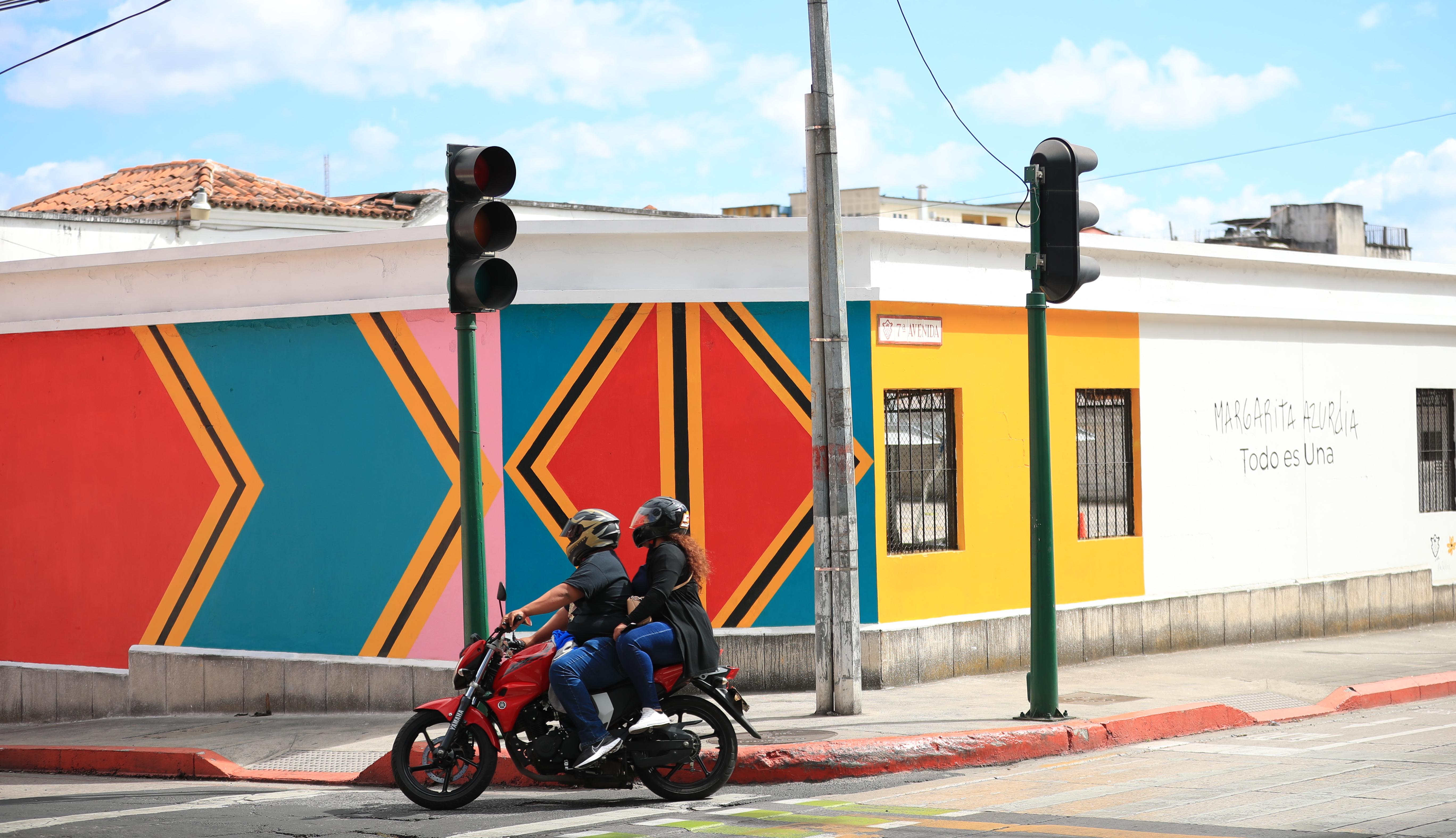 El mural dedicado a Margarita Azurdia se encuentra en la 7 avenida y 13 calle, zona 1.