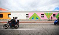 Mural ubicado en la 7a Avenida y 13 calle de la zona1, dedicado la arista guatemalteca Margarita Aturd'a .  foto Carlos Hern‡ndez 30/01/2021