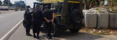 Mario Iván Amézquita Mérida, alias el Charo, el Chato o San Miguel Arcángel, sindicado de narcotráfico y con solicitud de extradición por parte de los Estados Unidos fue capturado en Pajapita San Marcos. (Foto Prensa Libre: MP)