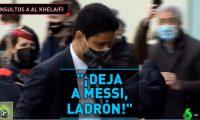 Nasser Al-Khelaifi está en Barcelona y no fue bien recibido por los aficionados. (Foto Prensa Libre: Captura El Chiringuito)