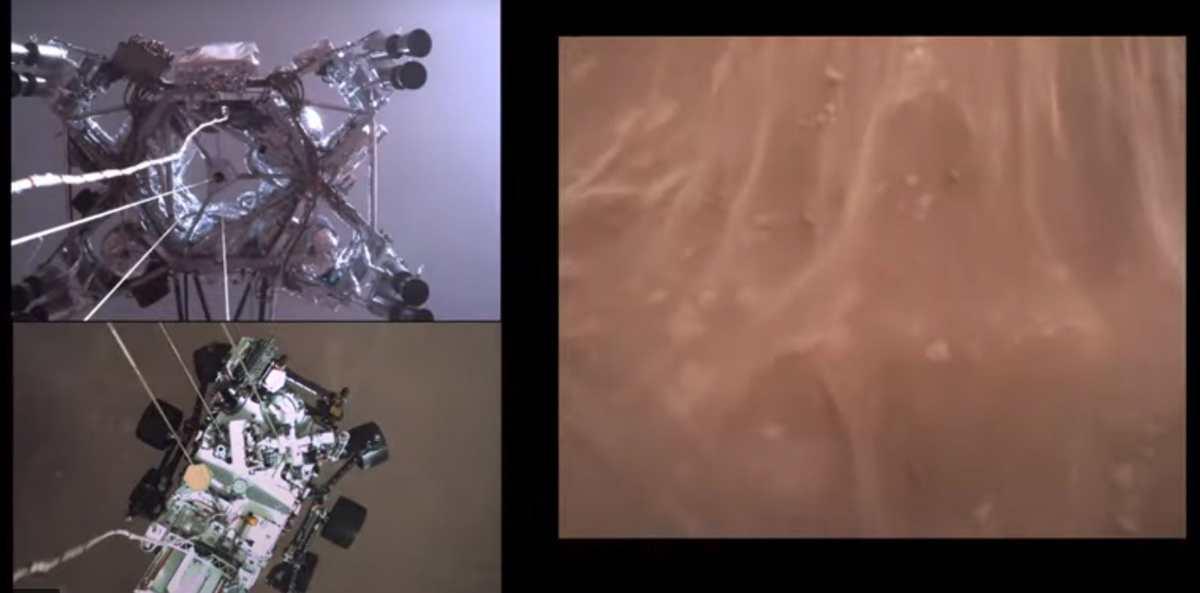 NASA revela primer audio de Marte y el primer video de llegada del Perseverance