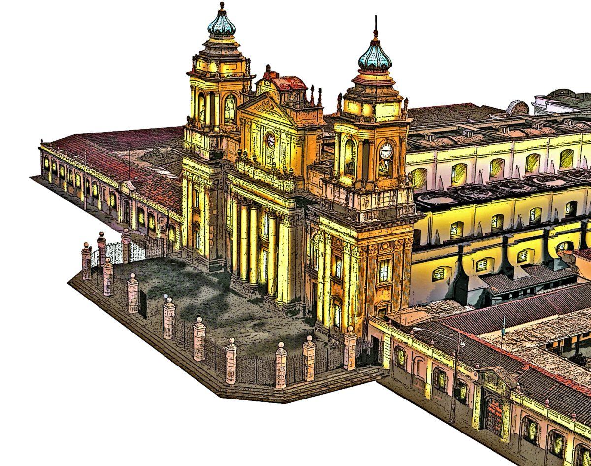 Primera piedra de la Catedral Metropolitana de Guatemala