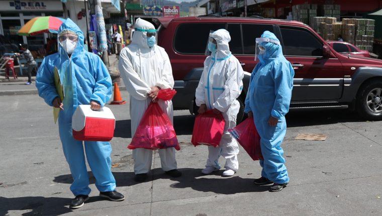Hasta el martes 2 de febrero, el departamento de Quetzaltenango registraba cinco mil 889 casos de covid-19 acumulados, de los que han fallecido 186 personas. (Foto Prensa Libre: María José Longo)