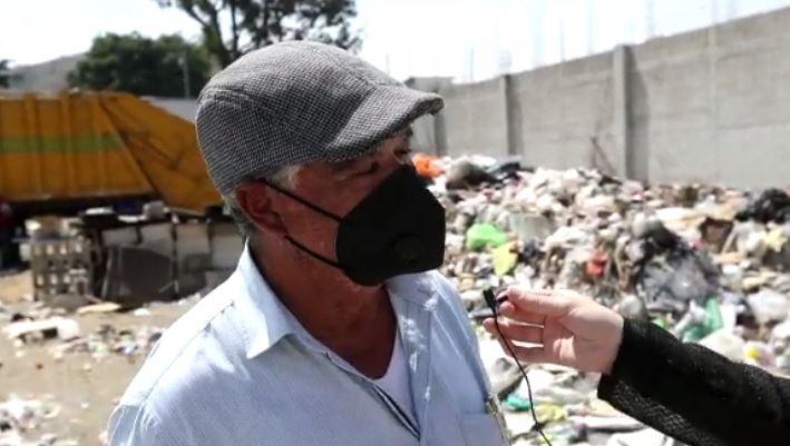 Predio colapsó por desechos en San Miguel Petapa. (Foto Prensa Libre: María Olga Menaldo)