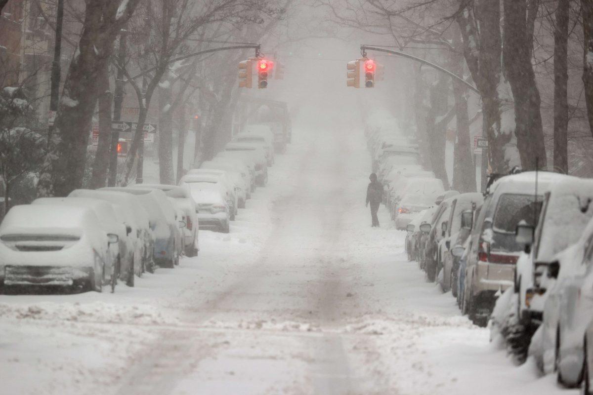 Imágenes: así se vive la tormenta invernal en EE. UU. donde se espera casi medio metro de nieve