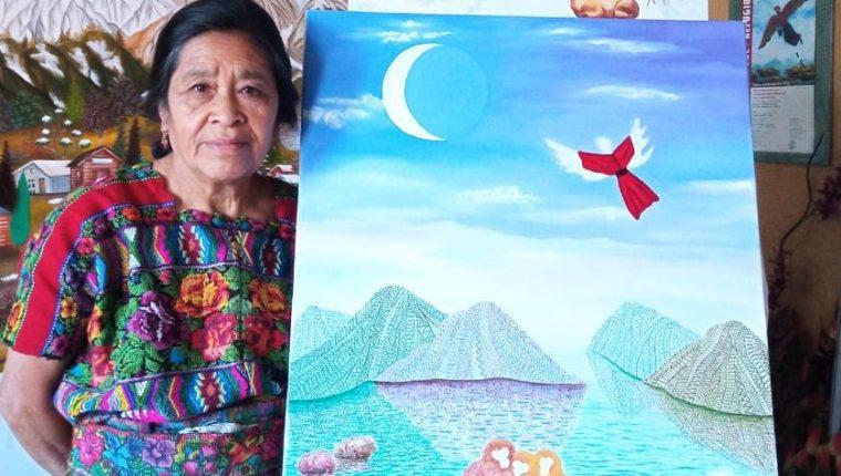La artista maya kaqchikel es originaria de San Juan Comalapa.