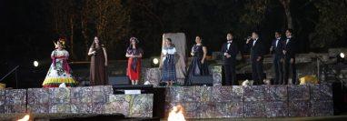 En Iximché iniciaron los festejos de los dos siglos de independencia de España. Foto Prensa Libre.
