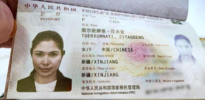 Pasaporte de Tursunay Ziyawudun  que demuestra su residencia en Xinjiang. Ahora vive en los Estados Unidos (Foto Prensa Libre: CNN)