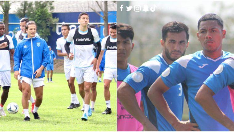 Los jugadores de Guatemala y Nicaragua entrenaron antes de enfrentarse este 24 de febrero a las 15 horas. Foto Prensa Libre: @fedefut_oficial 7 @Fenifutnica