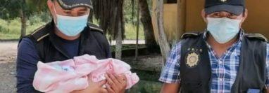 La Policía Nacional Civil y el Ministerio Público localizaron a una bebé robada en San Benito, Petén. (Foto Prensa Libre: PNC)