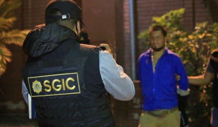 """Edwin Andrade Herrera Paz, alias """"El Sargento"""" fue capturado por investigadores de la PNC en San Juan Sacatepéquez. (Foto Prensa Libre: PNC)"""