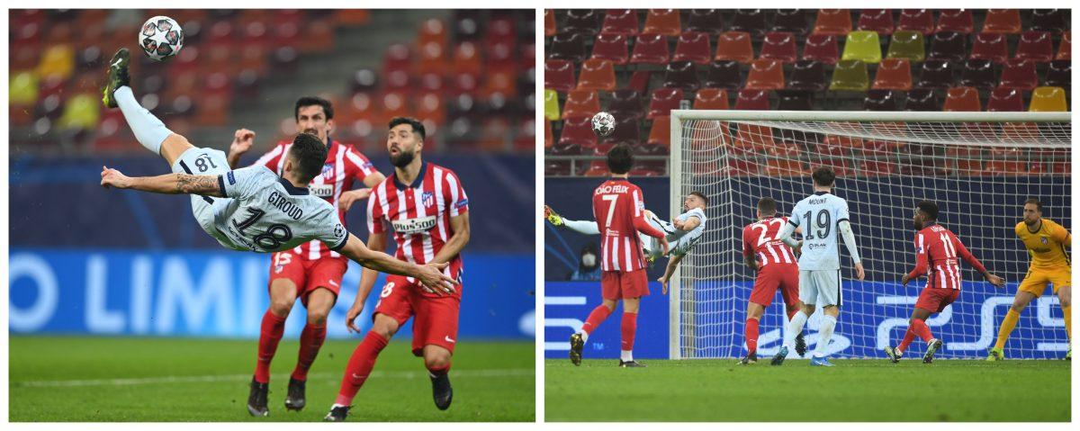Chelsea, con un golazo de Giroud, le gana 1-0 al Atlético de Madrid y se acerca a cuartos de Champions League