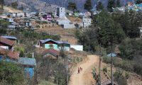 Vista del poblado de Comitancillo desde donde se presume salió la mayoría de migrantes que fallecieron en Tamaulipas el pasado 22 de enero. (Foto Prensa Libre: Juan Diego González)