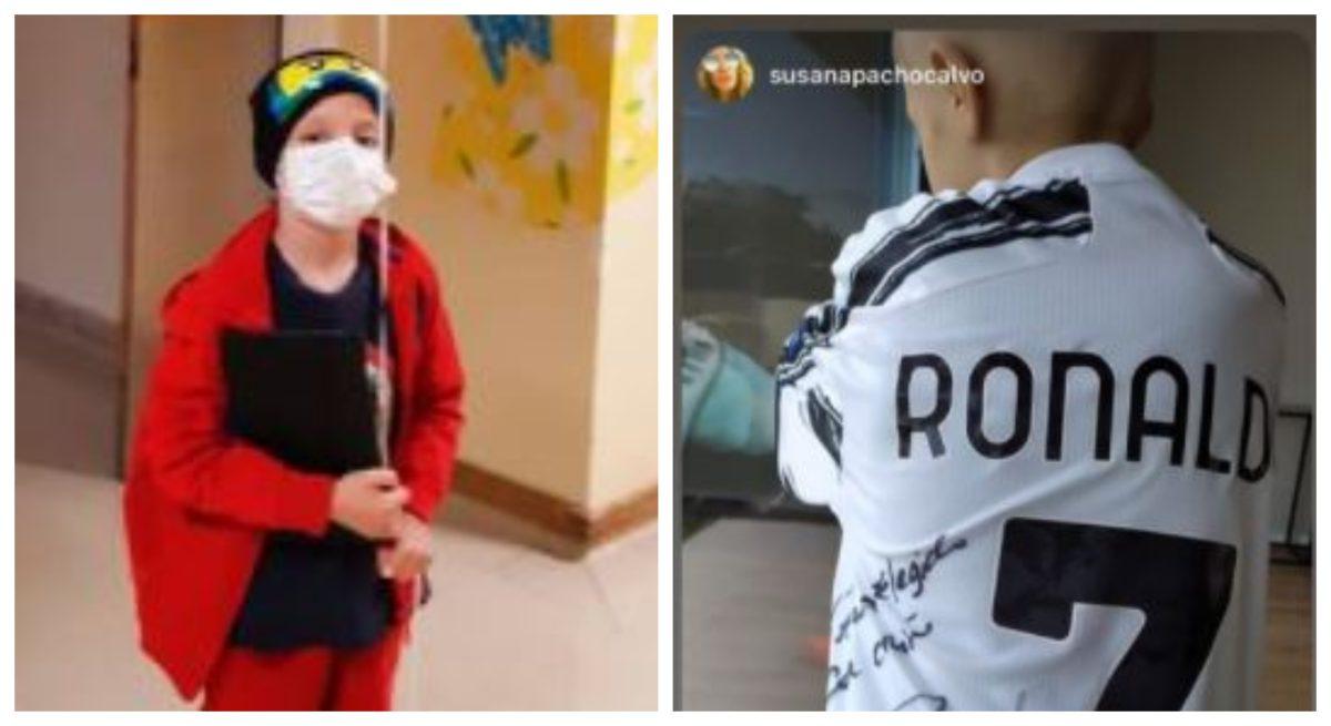 El noble gesto de Cristiano Ronaldo y Georgina Rodríguez con un niño que padece de cáncer