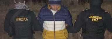 Gersom Blas Muñoz Cifuentes, conocido como Duke o Duku, fue detenido en La Esperanza, Quetzaltenango, con fines de extradición a Estados Unidos, por narcotráfico. (Foto Prensa Libre: PNC)