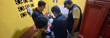Operativo del MP en Escuintla, contra la trata de personas. (Foto Prensa Libre: MP)