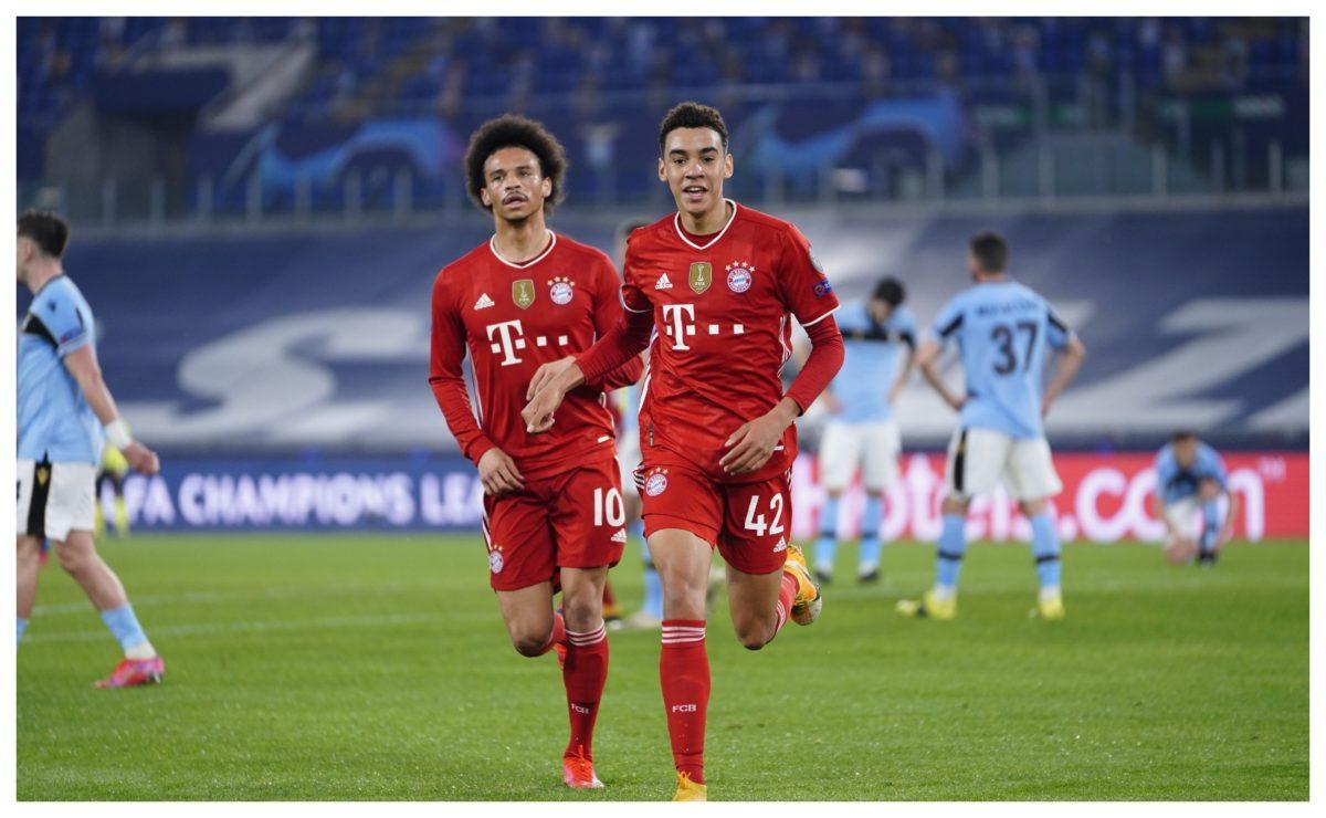 El jugador del Bayern Múnich que le anotó un gol a la Lazio se llama Jamal Musiala y tiene 17 años.